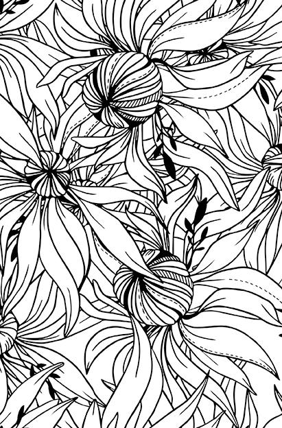 книга волшебные цветы раскраска антистресс ст 32
